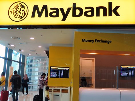 MayBank Currency Exchange Counter