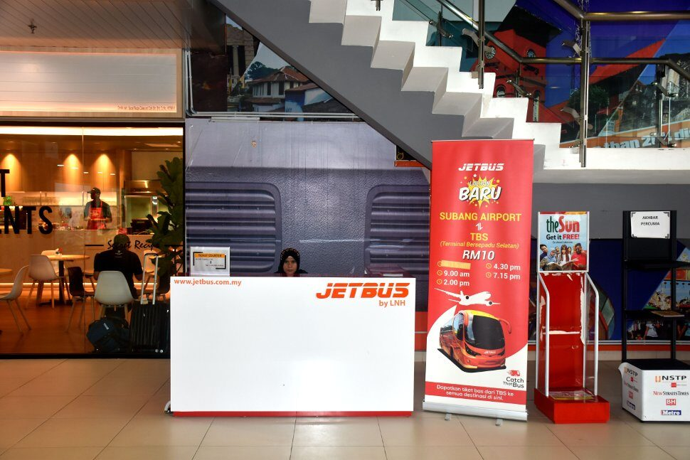 Jetbus ticket counter at the terminal