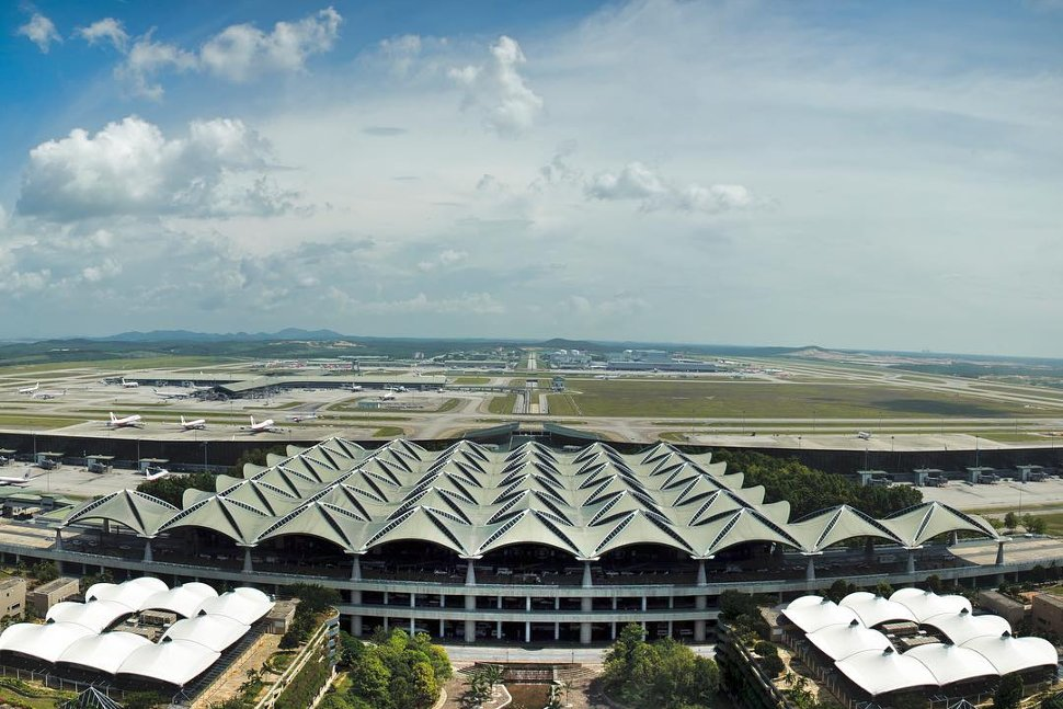 Aerial view of the KLIA