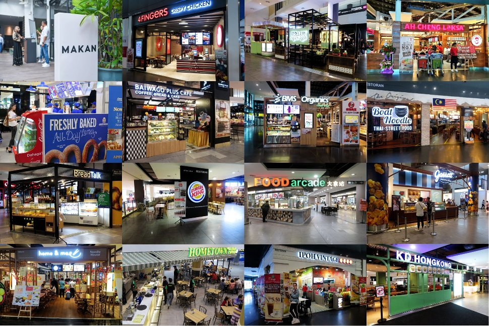 Food and beverages shops at klia2