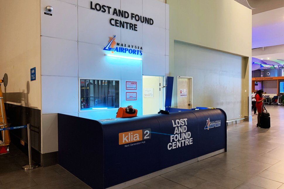 Lost and Found centre at klia2 Main Terminal Building