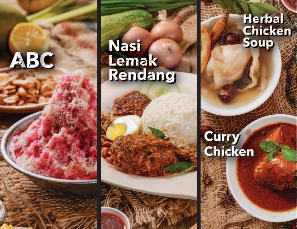 ABC, Nasi Lemak Rendang, Herbal Chicken Soup