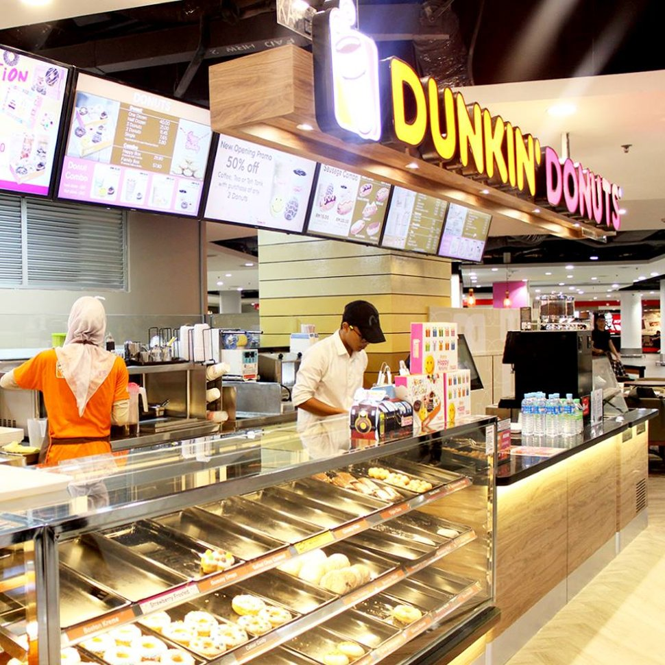 Dunkin Donuts at level 2 of Gateway@klia2 mall