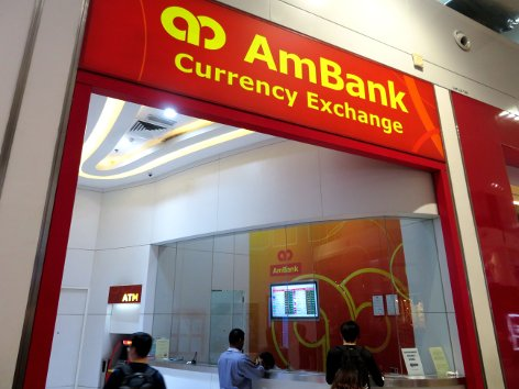 Ambank Currency Exchange at level 2 of Gateway@klia2 mall