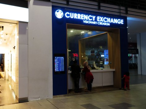 VR Currency Exchange at level 2 of Gateway@klia2 mall
