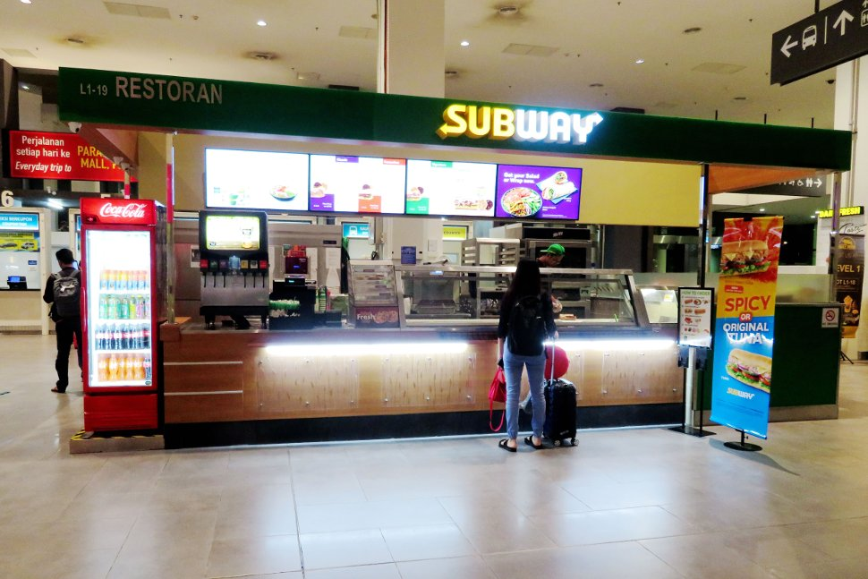 Subway at level 1, Gateway@klia2 mall
