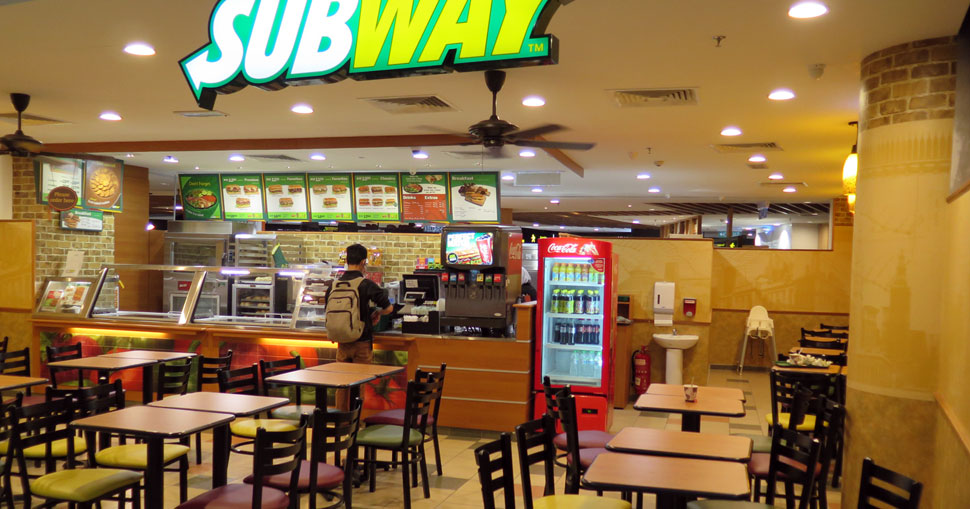 Subway at level 2, Gateway@klia2 mall