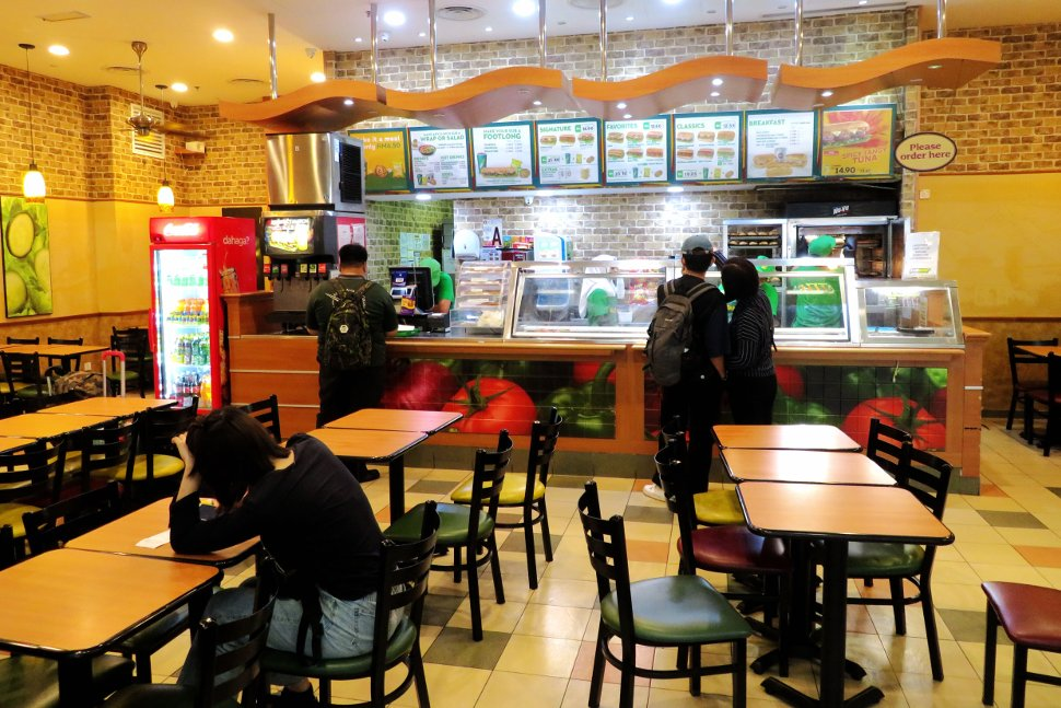 Subway at level 3, Gateway@klia2 mall