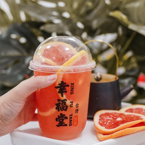 Mandarin orange bubble tea