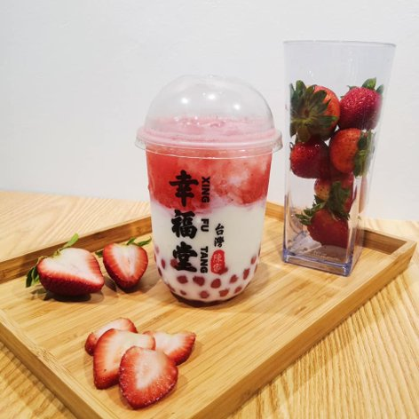 Strawberry bubble tea