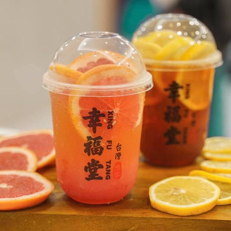 Mandarin orange bubble tea and orange bubble tea