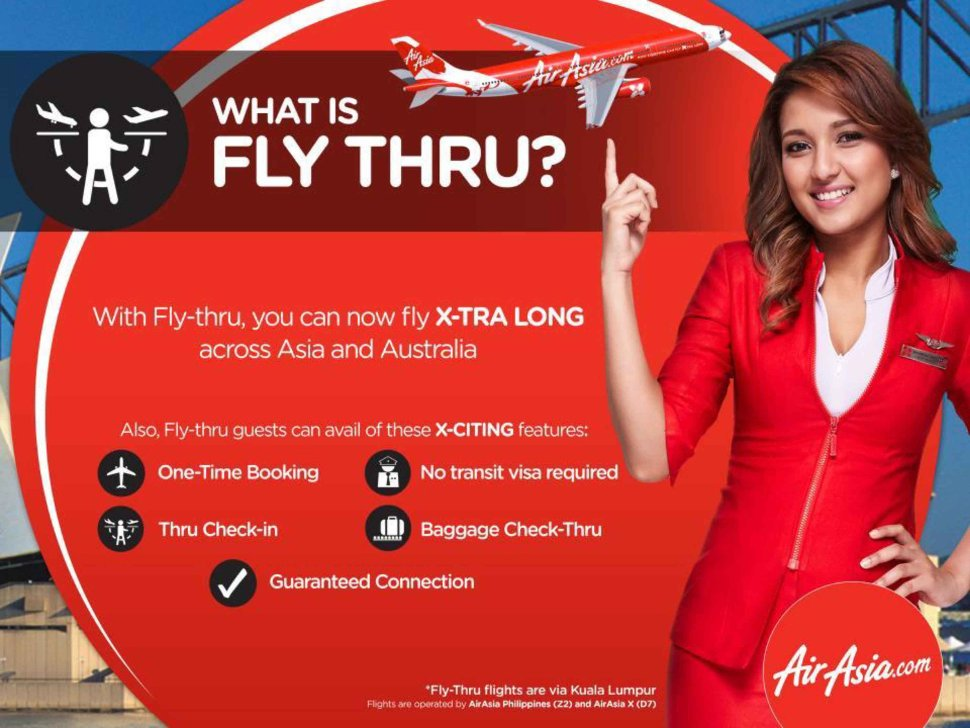AirAsia's Fly-thru services