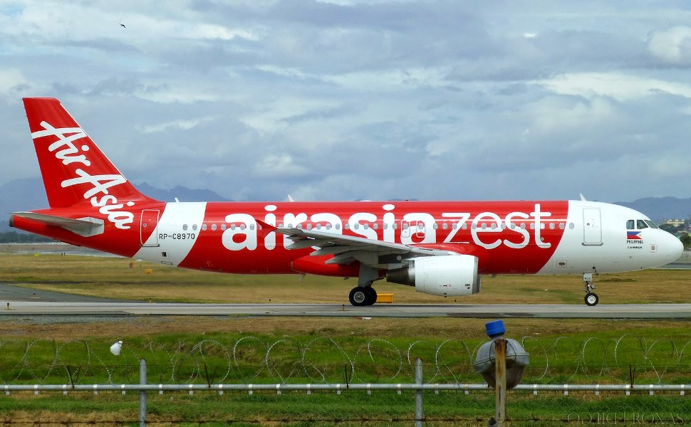 AirAsia Zest's flight landing at terminal