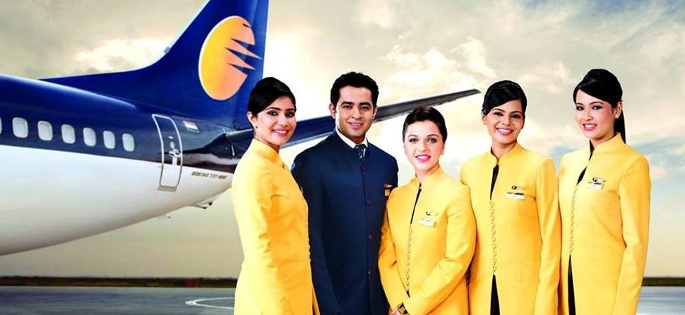 Jet Airways' crew members