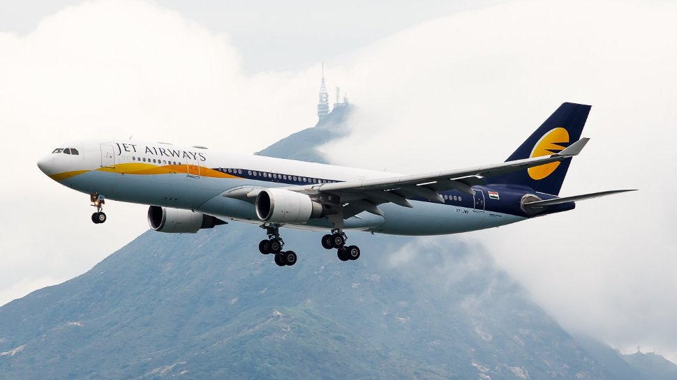 Jet Airways' flight flying high