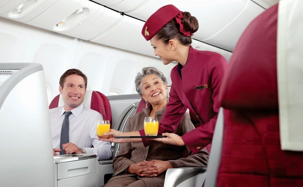Friendly services onboard Qatar Airways