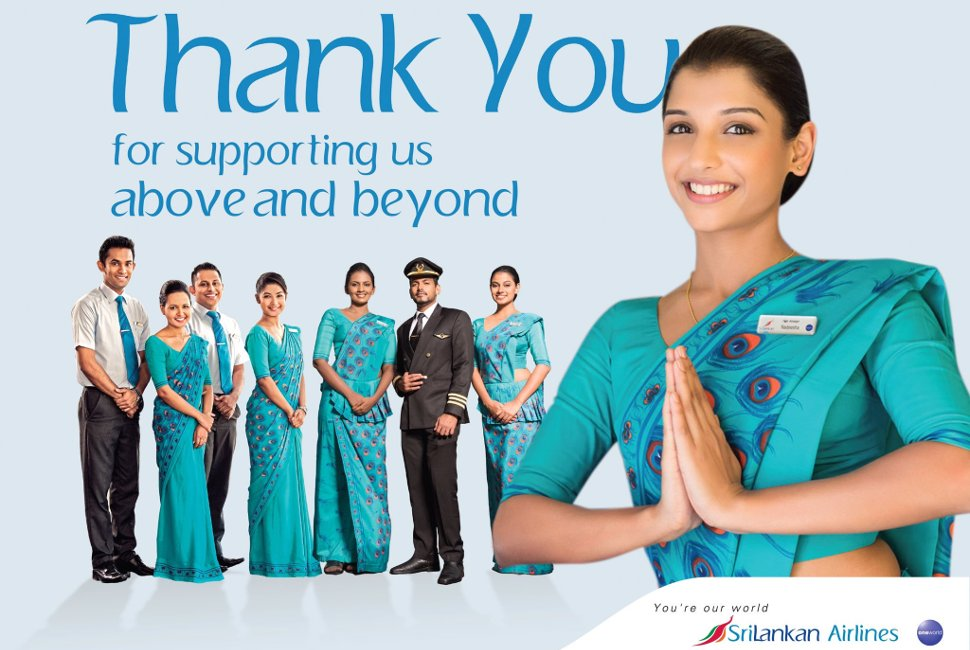 SriLankan Airlines welcomes you!