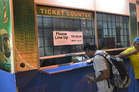 Ticketing Counter at KL Sentral
