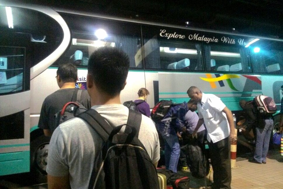 Passengers boarding the Airport Coach at the KL Sentral