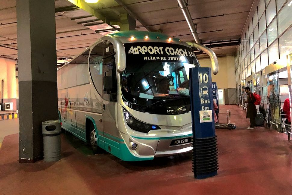 Airport Coach at KLIA bus stationi