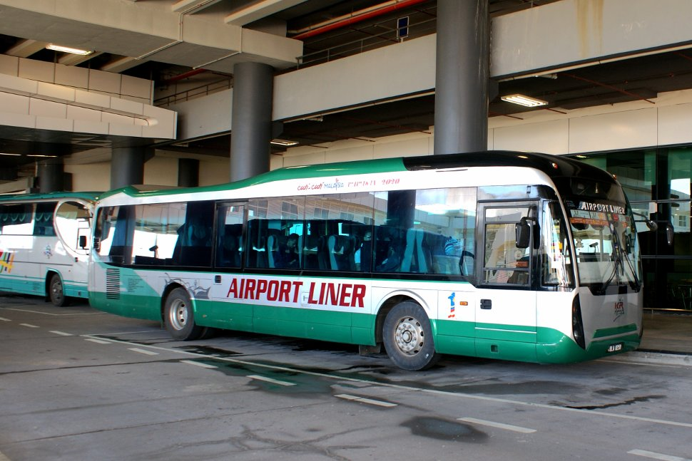 Airport Liner and Airport Coach at the klia2