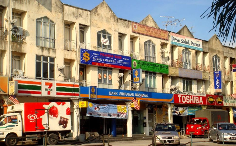 Some shops at the Bandar Baru Salak Tinggi