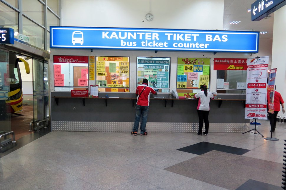 Bus ticket counters at KLIA bus station