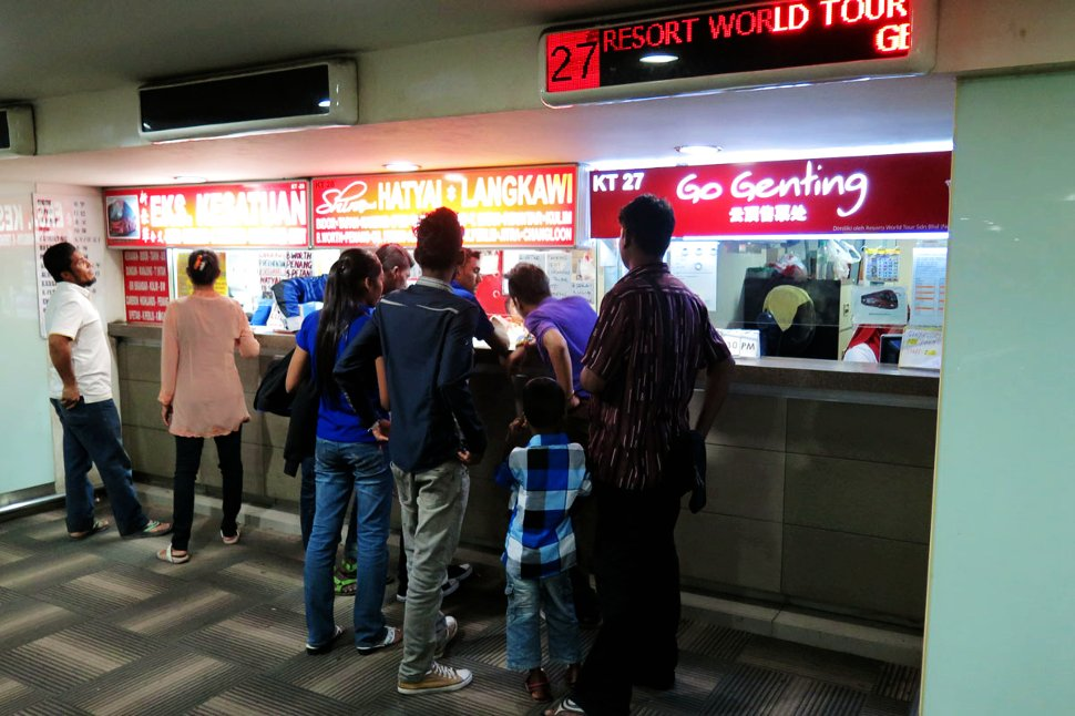 Genting Express bus ticket counter at Pudu Sentral