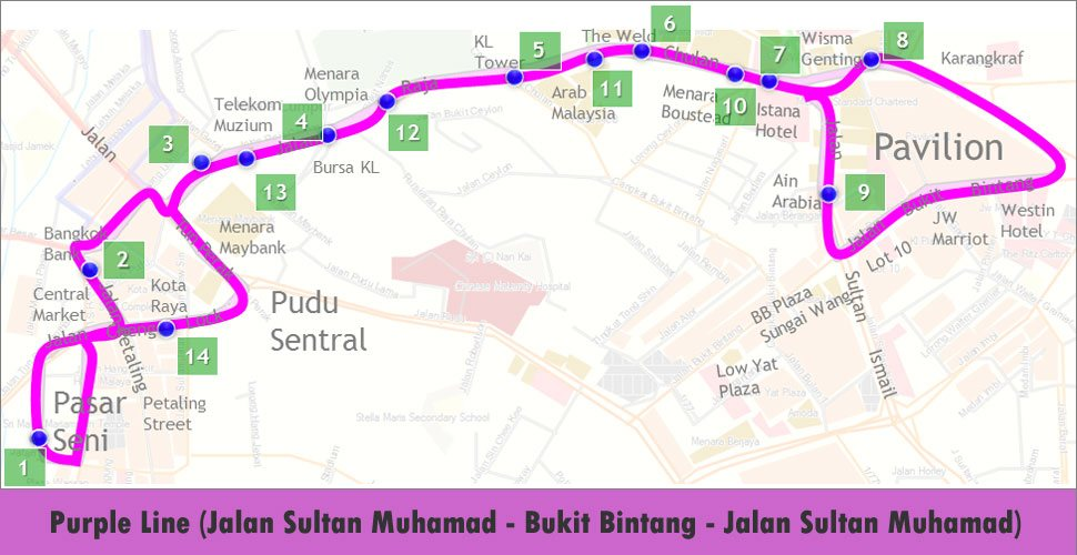 Go KL Purple Line Route