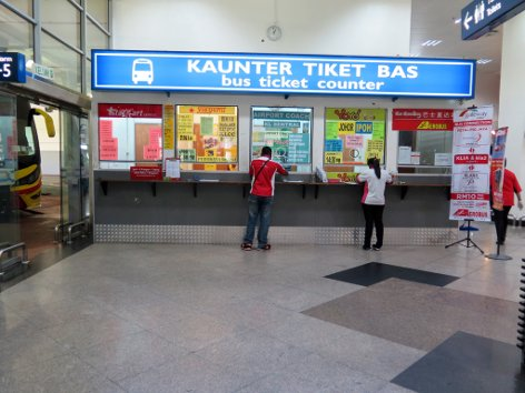 Bus ticketing counters