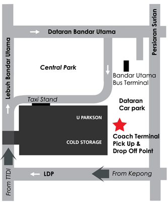 1 Utama Pick Up Point for Skybus