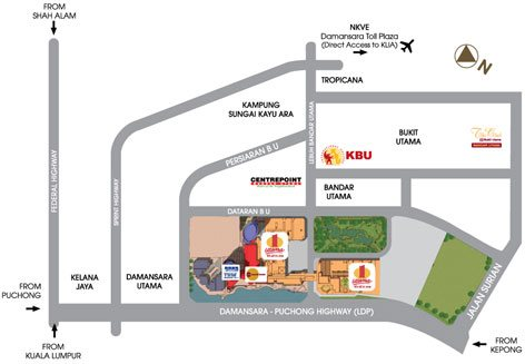 One Utama Shopping Mall layout