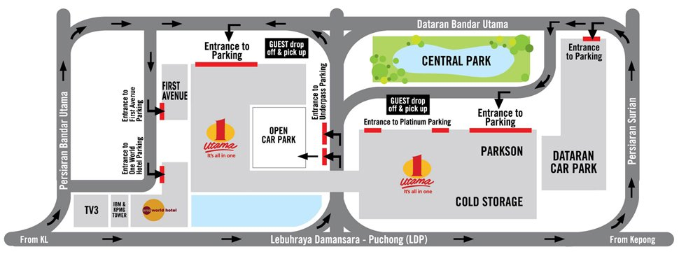 One Utama Shopping Mall parking