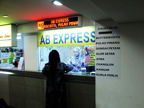 Ticket counters at Pudu Sentral