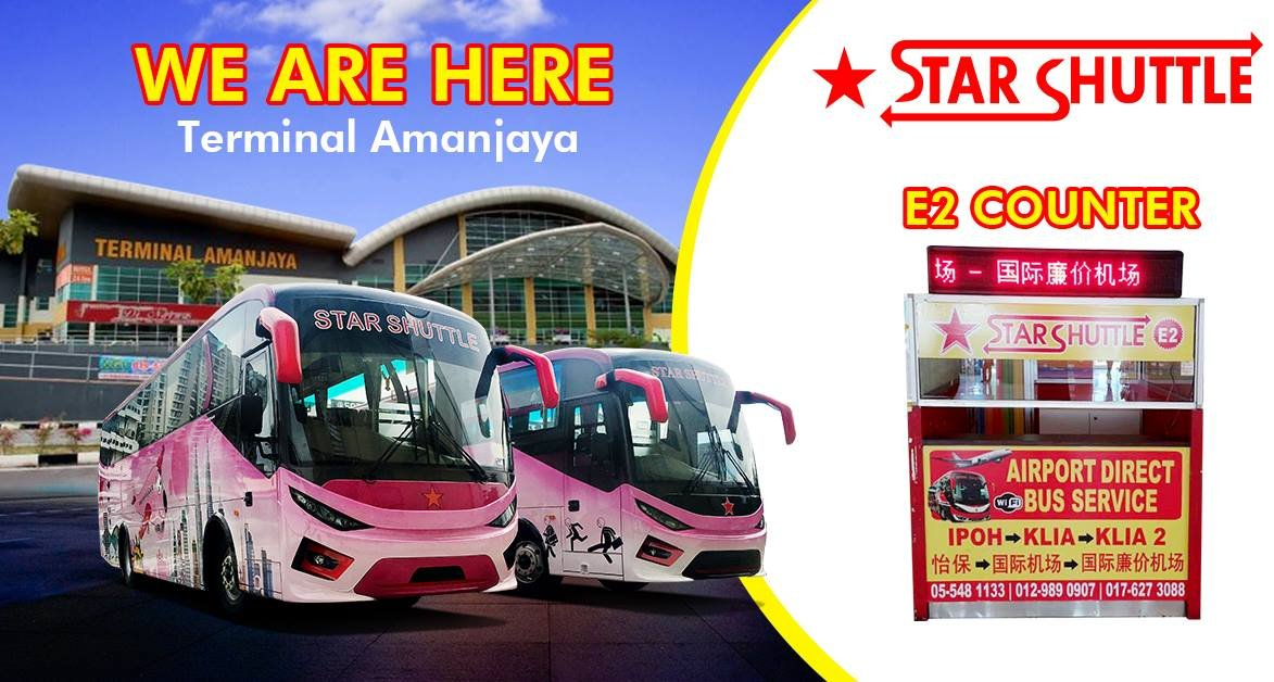 Star Shuttle Shuttle Buses From Klia2 To Pudu Sentral Ipoh Teluk