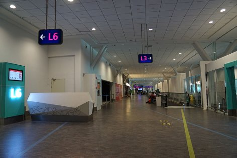 Walkalator near Gate L3 & L6