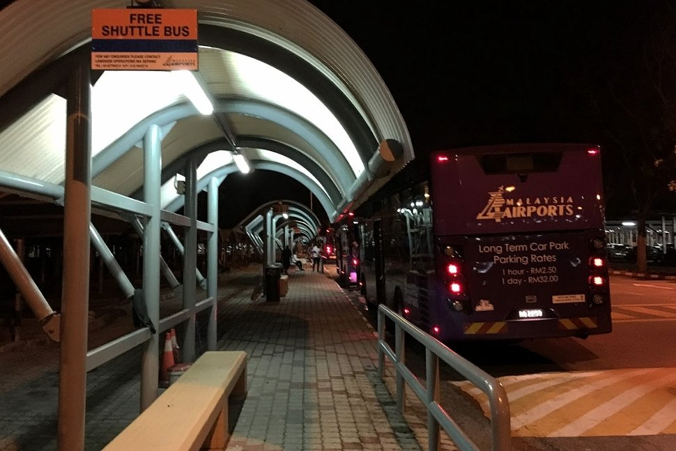 Pick up point for free shuttle bus