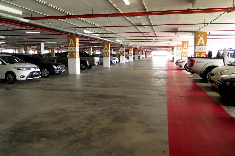 Parking bays at block A