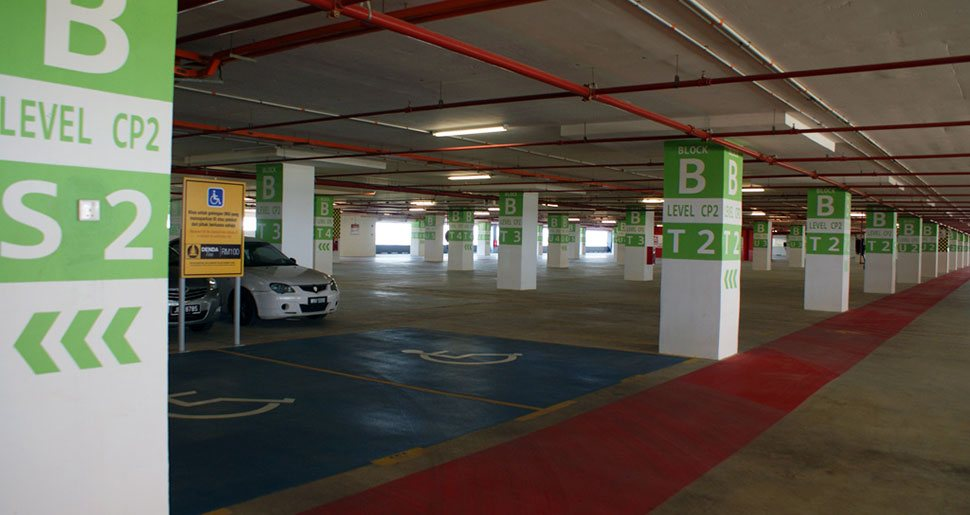 Handicapped parking bays, Block B, Parking facility, KLIA2