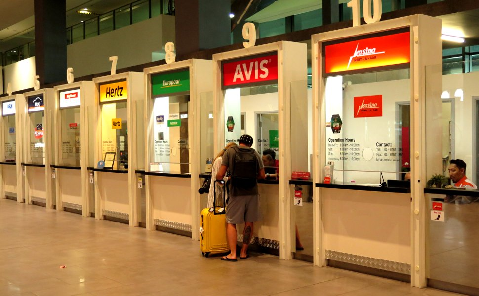 Car Rental Counters at Level 1, Gateway@klia2 mall