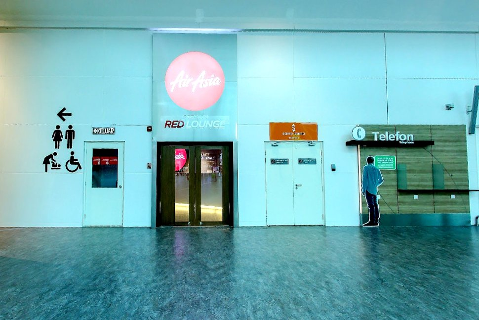 Entrance to the AirAsia Red Lounge