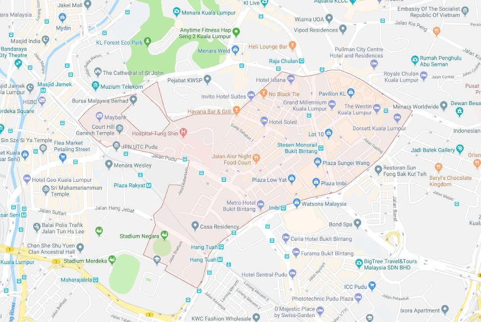 Hotels Near Bukit Bintang Pudu Sentral Chinatown Klia2 Info