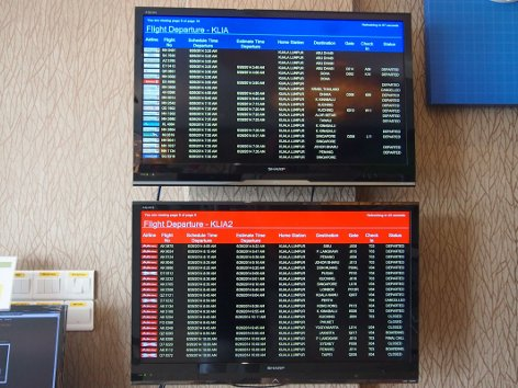 Flight information display monitor