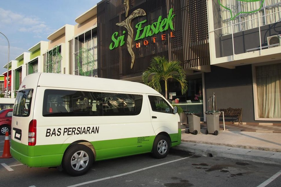 The hotel provides airport transfer
