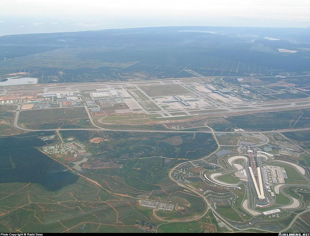 Aerial view of KLIA and surroundings