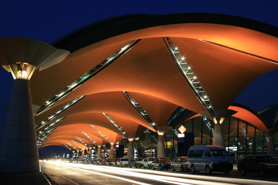 KLIA Main Terminal Building in the evening