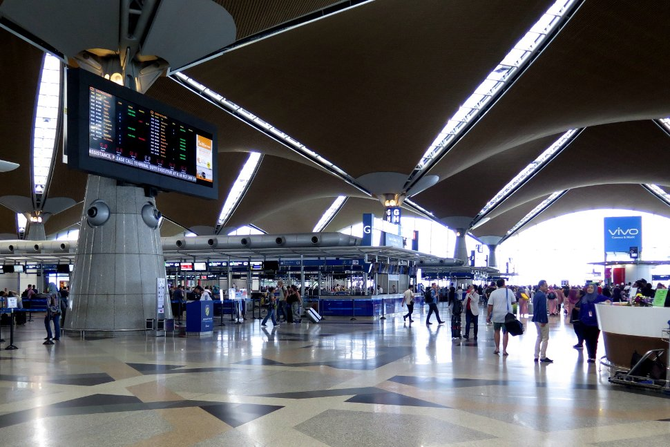 Check-in counters at the KLIA Departure Hall