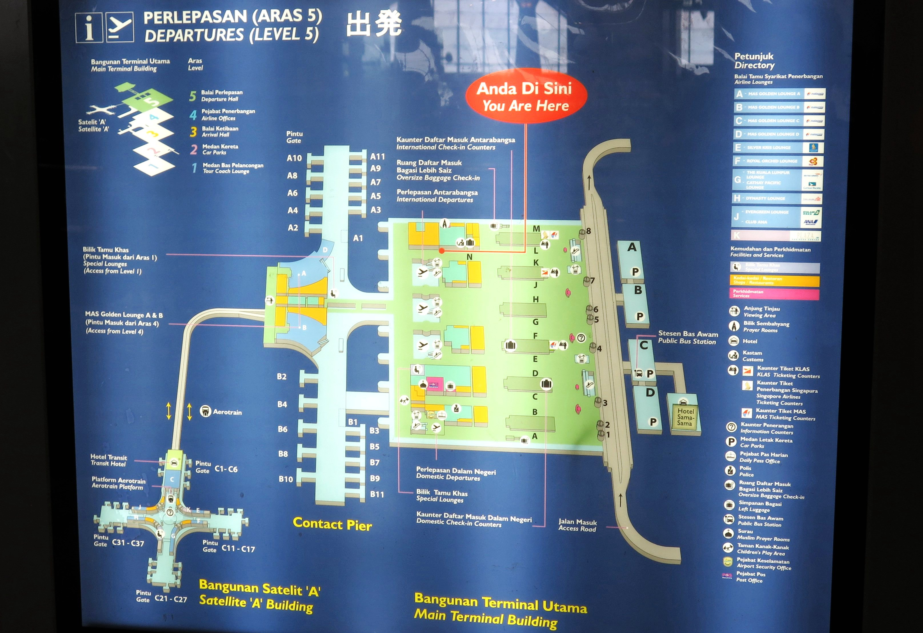 terminal m kuala lumpur international airport map Klia Layout Plan Guide On Getting Around The Kuala Lumpur terminal m kuala lumpur international airport map