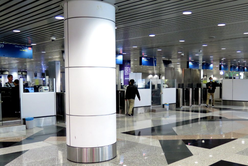 Immigration counters at the Arrival Hall