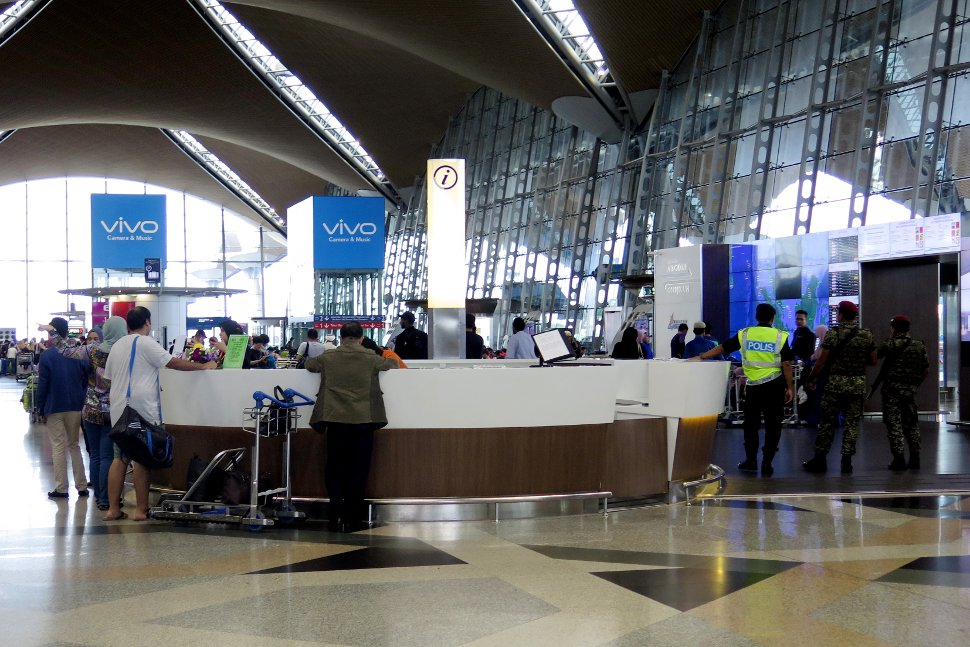 Information counter at the KLIA